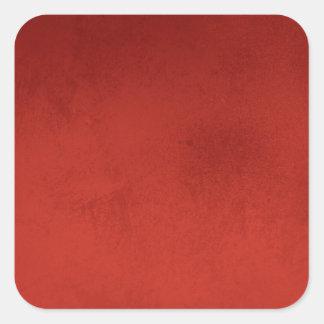 RICH RED GRADIENT BACKGROUND LOVE TEXTURED TEMPLAT SQUARE STICKER