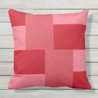 RICH RED LEATHER LOOK Throw Cushion