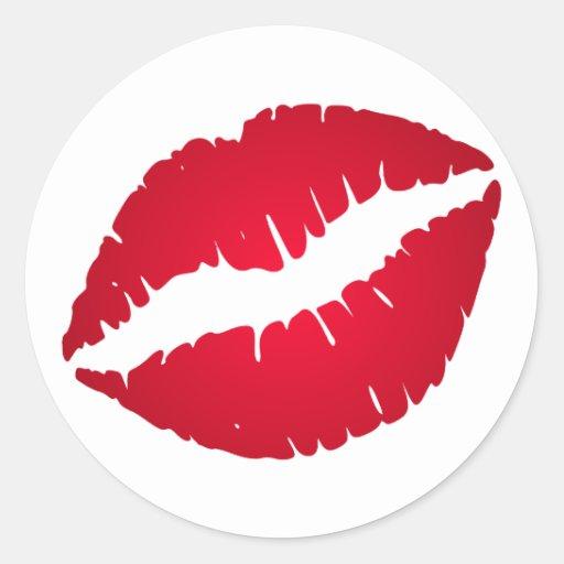 Rich Red Lipstick Sticker