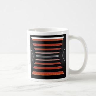 Rich Red n Black Horizontal Stripes Basic White Mug