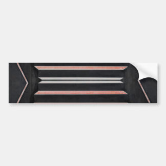 Rich Red n Black Horizontal Stripes Bumper Stickers