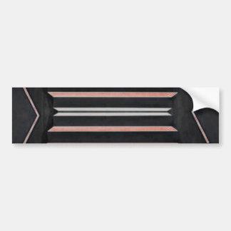 Rich Red n Black Horizontal Stripes Bumper Stickers