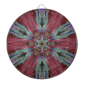 Rich Rose Teal Modern Artistic Pattern Dartboard