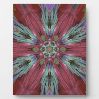 Rich Rose Teal Modern Artistic Pattern Plaque