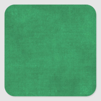 RICH SEAWEED GREEN   GRUNGE PAPER CANVAS TEMPLATES SQUARE STICKER