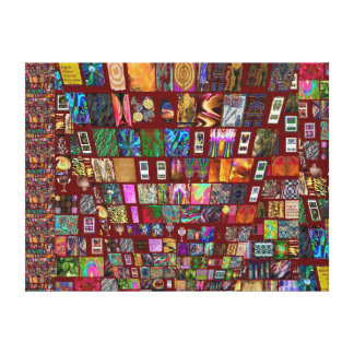 RICH ThumbNail Artistic Collage Gallery Wrapped Canvas