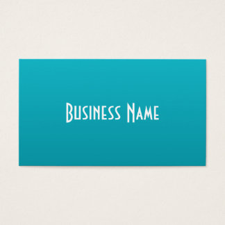 Rich Turquoise Business Card