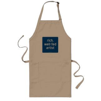 rich, well-fed artist long apron