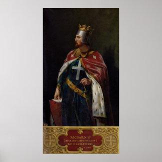 Richard I the Lionheart  King of England, 1841 Poster