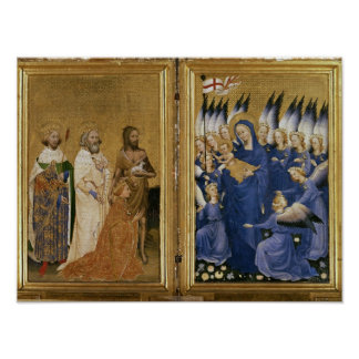 Richard II Presented to the Virgin and Child Poster