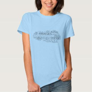 Richard II Word Cloud Tshirts