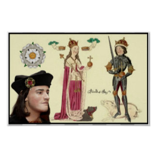 Richard III and Queen Anne Poster