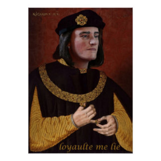 Richard III portrait with his motto Poster