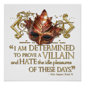 Richard III Quote (Gold Version) Poster