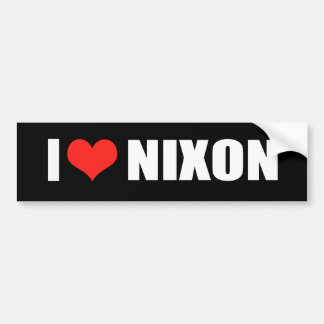 RICHARD NIXON Election Gear Bumper Sticker