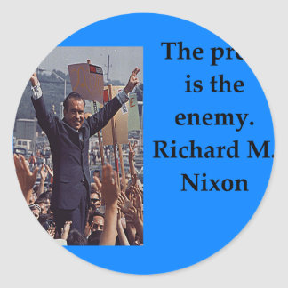 Richard Nixon quote Classic Round Sticker