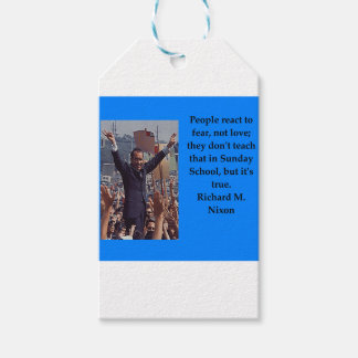 Richard Nixon quote Gift Tags