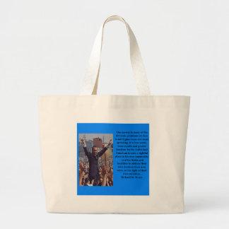 Richard Nixon quote Large Tote Bag