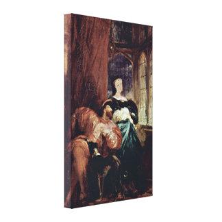 Richard Parkes Bonington - Francis I and Margaret Canvas Print