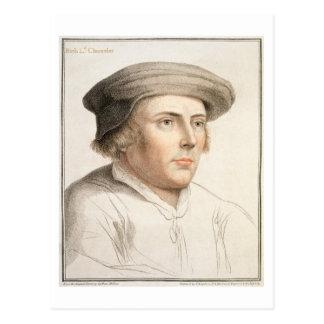 Richard Rich, First Baron Rich (c.1496-1567) engra Postcard