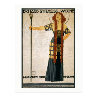 Richard Strauss, Munich, Germany, Opera, Vintage Postcard
