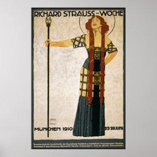 Richard Strauss Woche 1910 Reprint 36 x 24 Poster