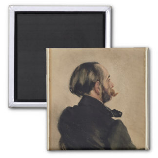 Richard, the Brother of the Artist, 1860 Square Magnet