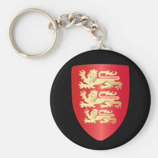 Richard the Lion Heart Shield in red+faux gold Basic Round Button Key Ring
