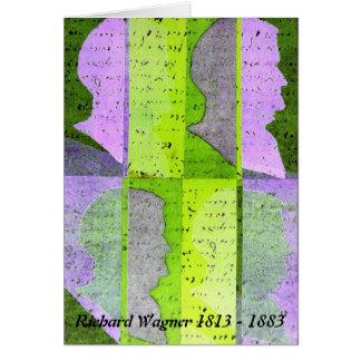 Richard Wagner Profile Art Card: Green purple Card
