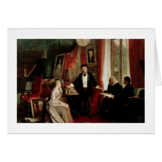 Richard Wagner with Franz Liszt and Liszt's daught Card