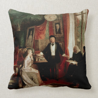 Richard Wagner with Franz Liszt and Liszt's daught Pillows
