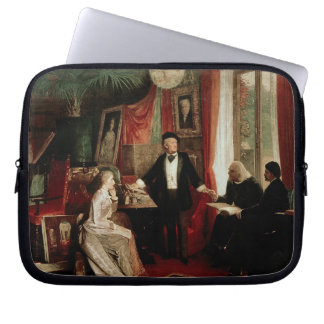 Richard Wagner with Franz Liszt and Liszt's daught Laptop Sleeve
