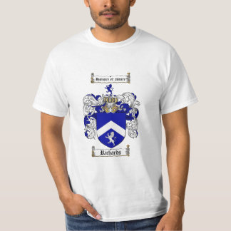 Richards Family Crest - Richards Coat of Arms T-Shirt