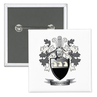 Richardson Coat of Arms 15 Cm Square Badge