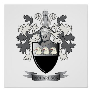 Richardson Coat of Arms Poster