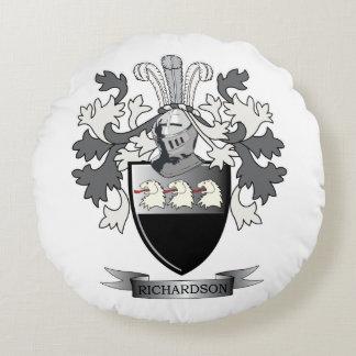 Richardson Coat of Arms Round Cushion
