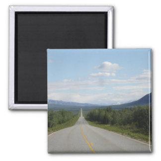 Richardson Highway, Alaska Square Magnet