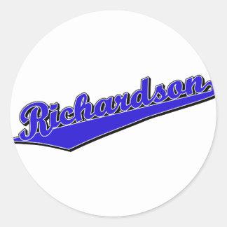 Richardson in Blue Round Sticker