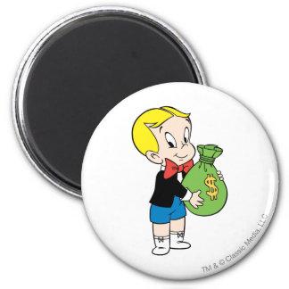 Richie Rich Money Bag - Color 6 Cm Round Magnet