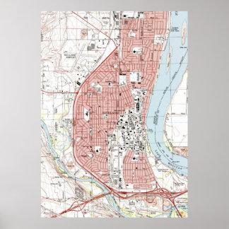 Richland Washington Map (1992) Poster