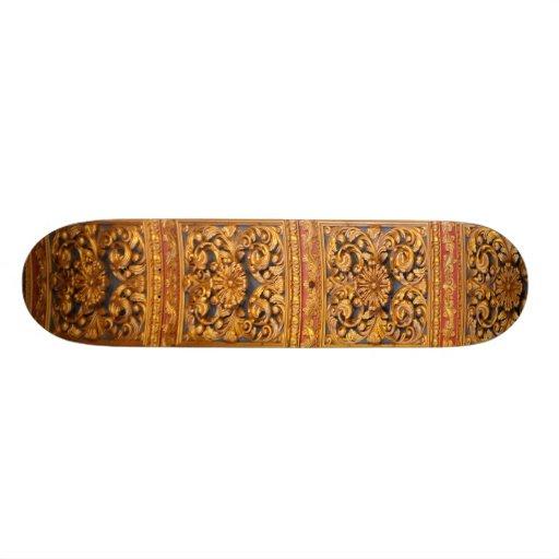Richly decorated ceiling custom skateboard