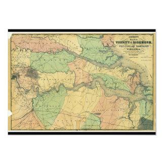 Richmond and Peninsular Campaign in Virginia 1864 13 Cm X 18 Cm Invitation Card