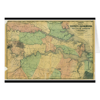 Richmond and Peninsular Campaign in Virginia 1864 Greeting Card