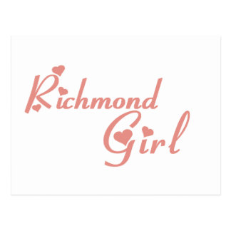 Richmond Girl tee shirts Postcard