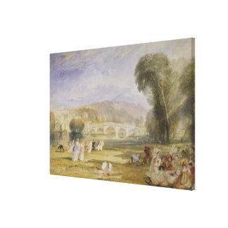 Richmond Hill and Bridge, Surrey Canvas Print