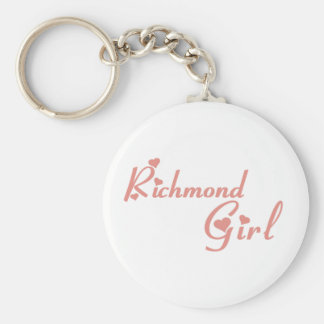 Richmond Hill Girl Basic Round Button Key Ring