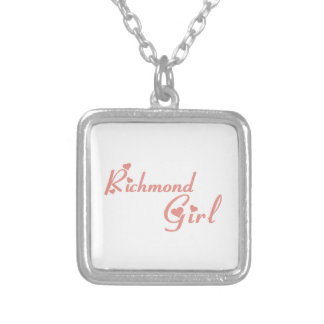 Richmond Hill Girl Silver Plated Necklace