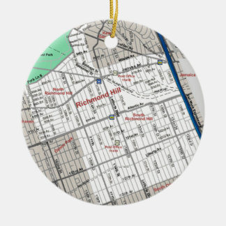 Richmond Hill, NY Ceramic Ornament