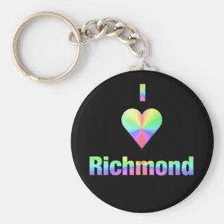 Richmond -- Pastels Basic Round Button Key Ring
