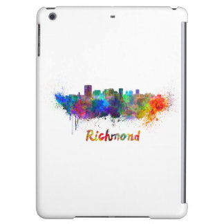 Richmond skyline in watercolor